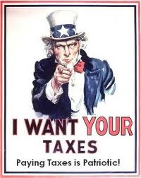 Uncle Sam-I want your Taxes
